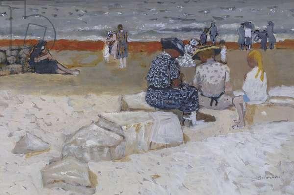On the Beach (gouache)