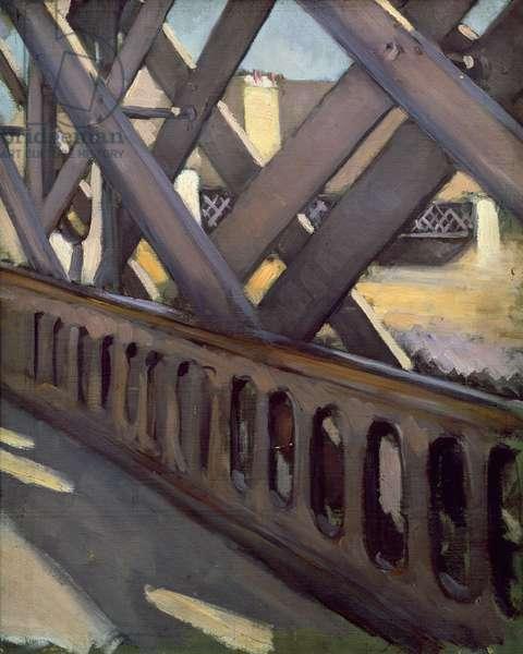 Study of Le Pont de l'Europe, 1876 (oil on canvas)