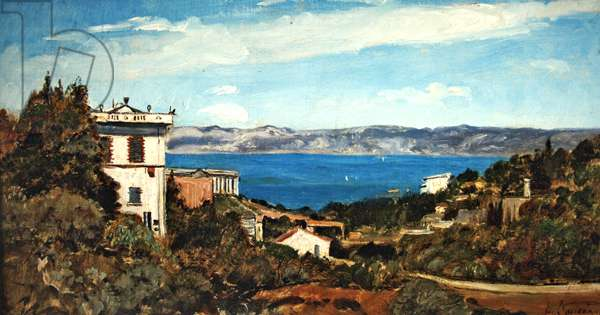The Bay of Marseille, Saint-Henri (oil on canvas)
