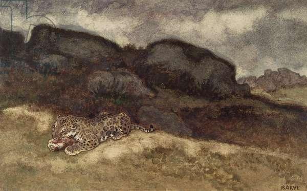 Jaguar Devouring its Prey (w/c on paper)