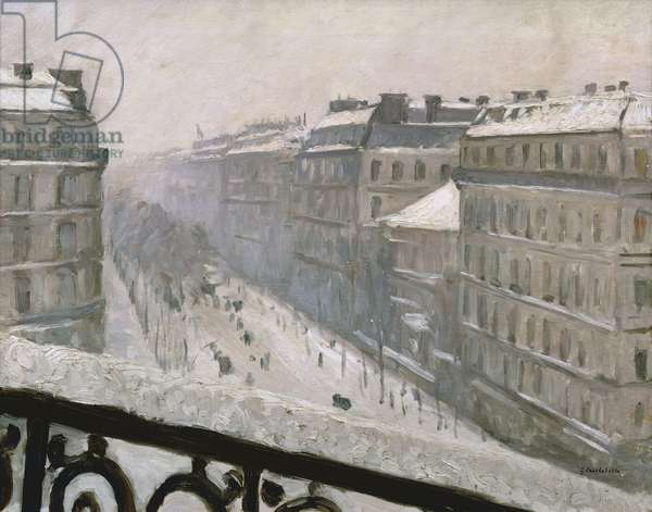 Boulevard Haussmann in the Snow, 1879 or 1881 (oil on canvas)
