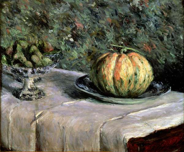 Melon and Fruit Bowl with Figs, 1880-82 (oil on canvas)