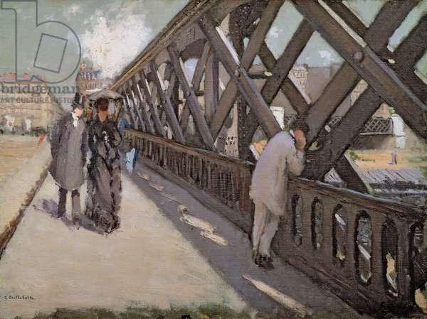 Study for Le Pont de l'Europe (oil on canvas)