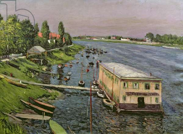 The Pontoon at Argenteuil, c.1886-87 (oil on canvas)