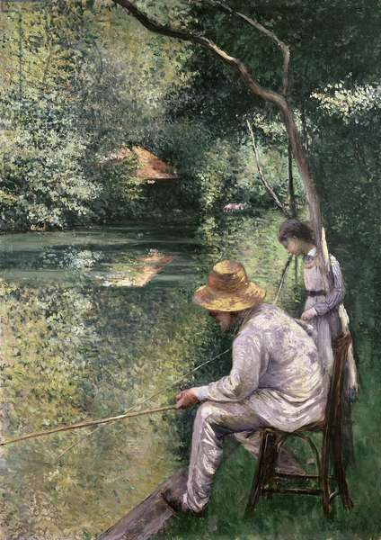 Angling, 1878 (oil on canvas)