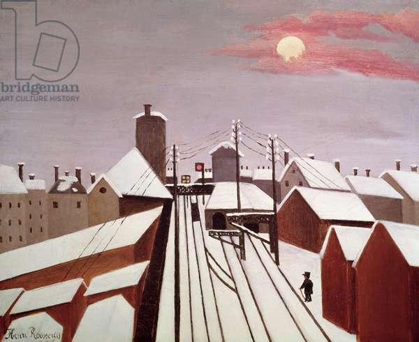 The Railway (oil on canvas)