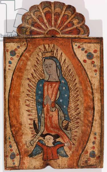 Our Lady of Guadalupe, c.1840 ( Water-based paint on wood panel)
