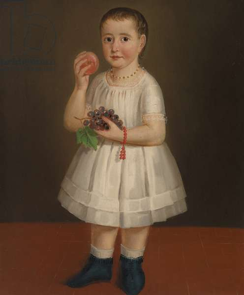 Little Girl with Fruit, c.1840 (oil on canvas)