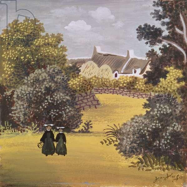 Les Soeurs (oil on canvas)