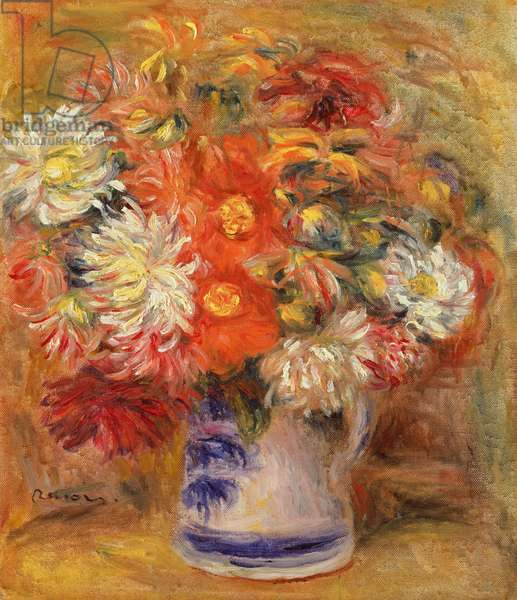 Chrysanthemums in a Vase, c.1919 (oil on canvas)