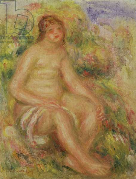 Seated Nude in Landscape, 1918 (oil on canvas)