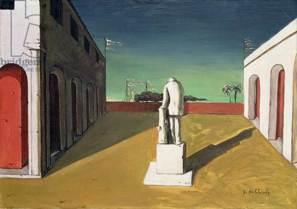 Fantasy - Statue in Plaza, c.1914 (oil on canvas) (see 105519 for sketch)