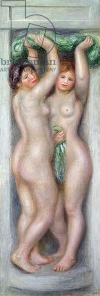 Caryatids, c.1910 (oil on panel)