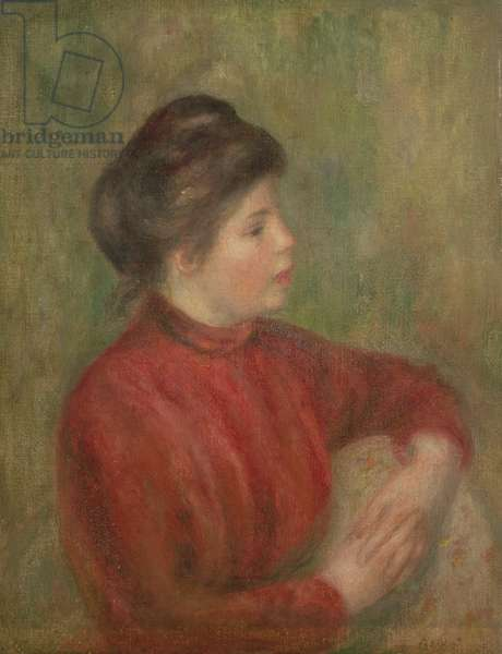 Woman Leaning Hands on Chair, 1891 (oil on canvas)