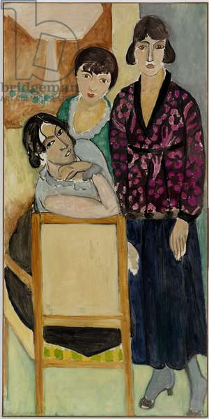 The Three Sisters with a Pink Marble Table, right panel from The Three Sisters Triptych, 1917 (oil on canvas) (see also 189106)