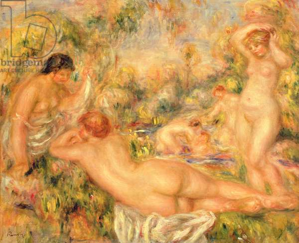 Group of Bathers, 1918 (oil on canvas)