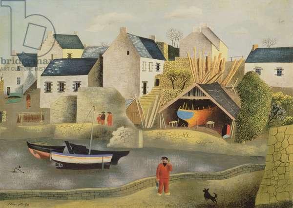 Treboul, Brittany, France (oil on panel)