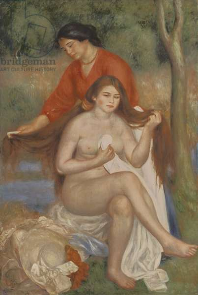 Bather and Maid, c.1900 (oil on canvas)