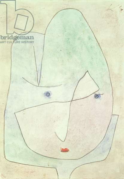 This Bloom is about to wither, 1939 (no 1180) (pencil, chalk & w/c on paper on cardboard)