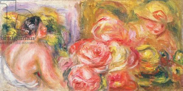 Nude Girl with Hat and Roses, 1916 (oil on canvas)