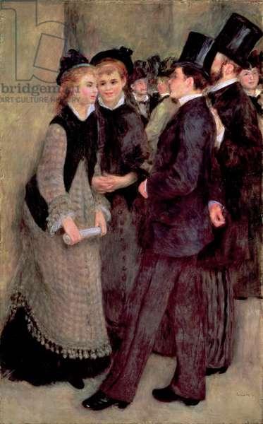 Leaving the Conservatory (La Sortie du conservatoire) 1877 (oil on canvas)
