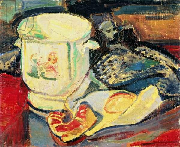 Still Life - Jardiniere (oil on canvas)