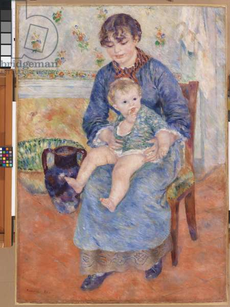 Mother and Child, 1881 (oil on canvas)
