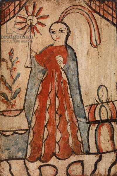 Saint Barbara, c. 1890 (water-based paint on wood panel)