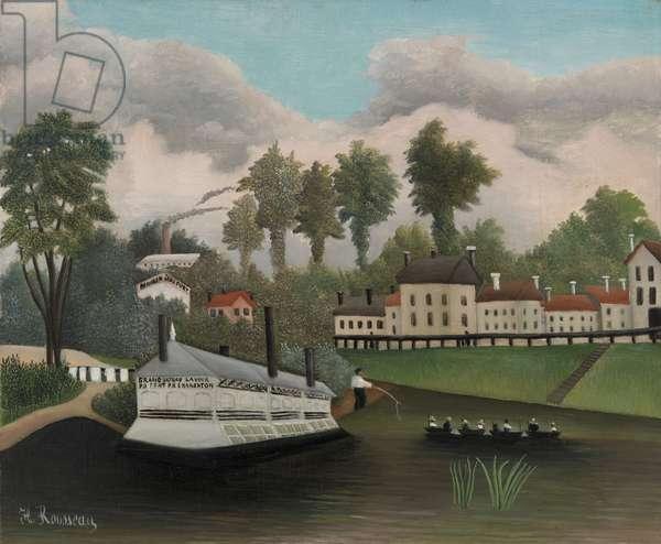 Grand Bateau Lavoir du Pont de Charenton, 1895 (oil on canvas)