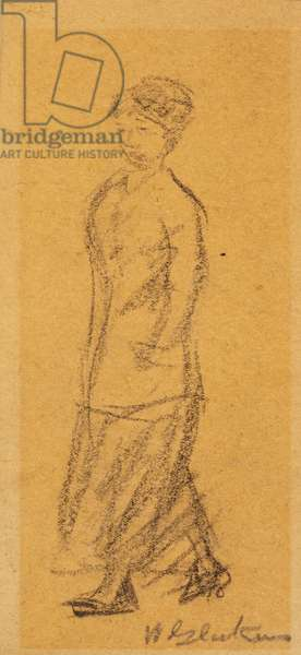 Woman Walking (pencil on paper)