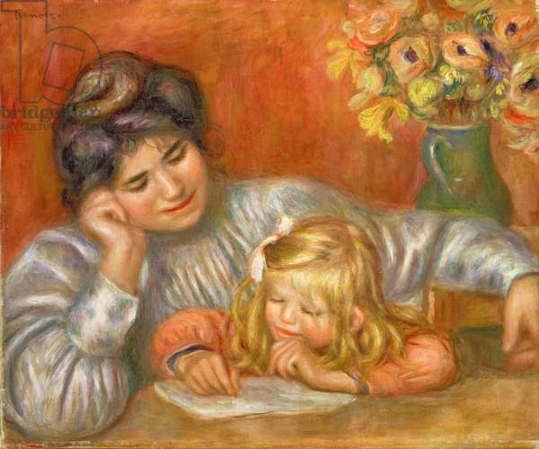 Writing Lesson (Gabrielle and Claude), c.1905 (oil on canvas)