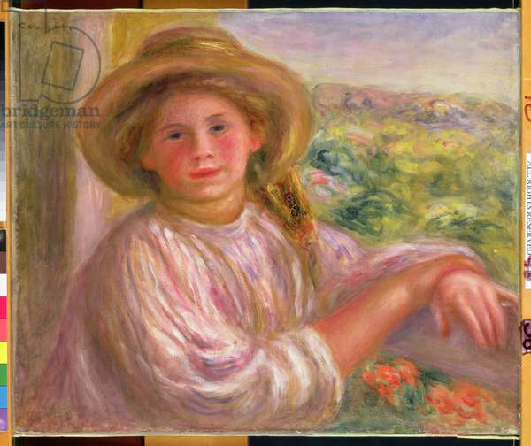 Girl on a Balcony at Cagnes, 1911 (oil on canvas)