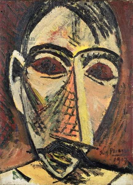 Head of a Man, 1907 (oil on canvas)