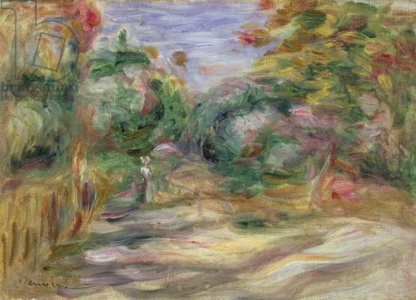 Landscape - Lane (oil on canvas)