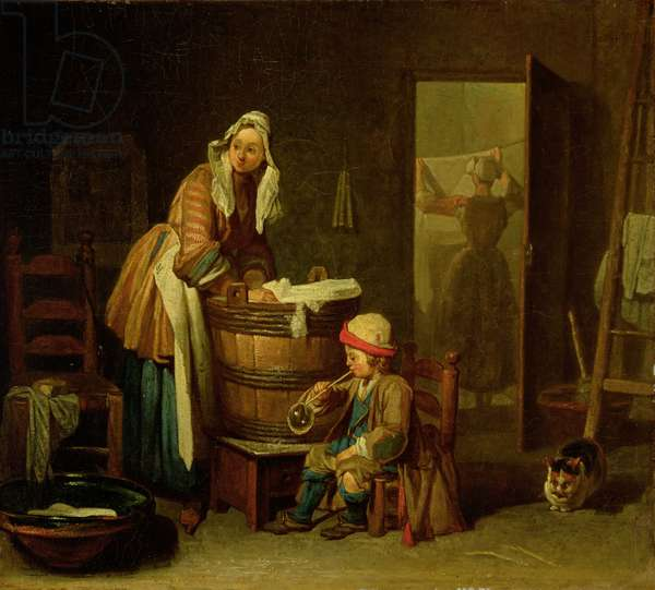 The Laundress (oil on canvas)