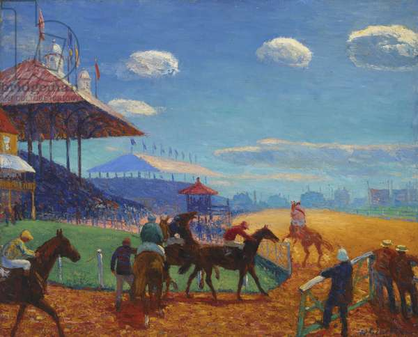Racetrack (oil on canvas)