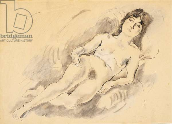 Reclining Nude (w/c on paper)