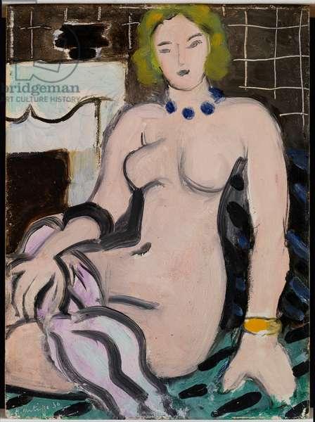 Nude near a Fireplace, 1936 (oil on panel)