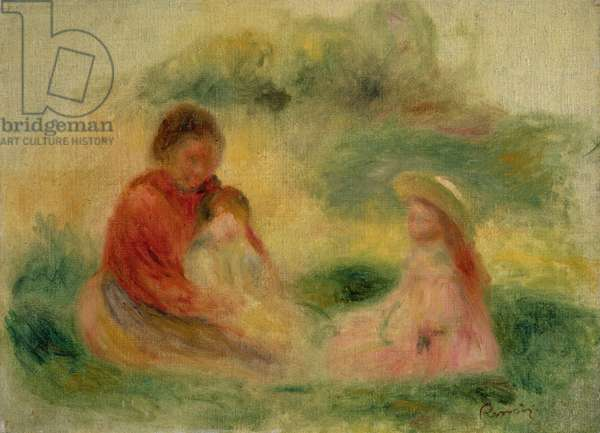 Woman with Two Children Sitting on the Ground, 1902-03 (oil on canvas)