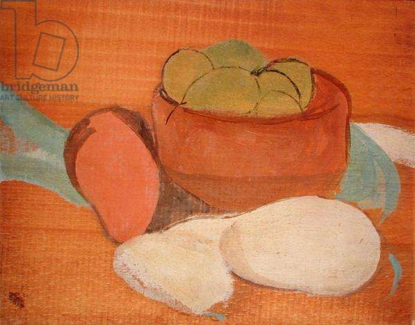 Still Life with Bowl of Fruit (oil on panel)