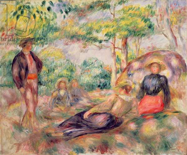 Study for 'Picnic', c.1893 (oil on canvas)
