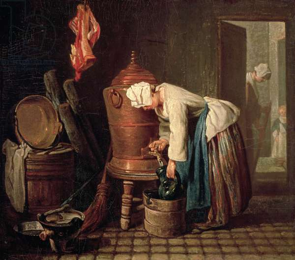 Woman Drawing Water from a Copper Cistern, c.1732 (oil on canvas)