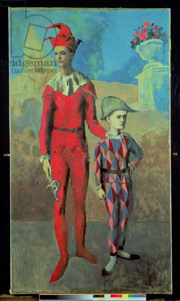 Acrobat and Young Harlequin, 1905 (oil on canvas)