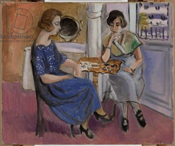 Domino Players, 1921-22 (oil on canvas)