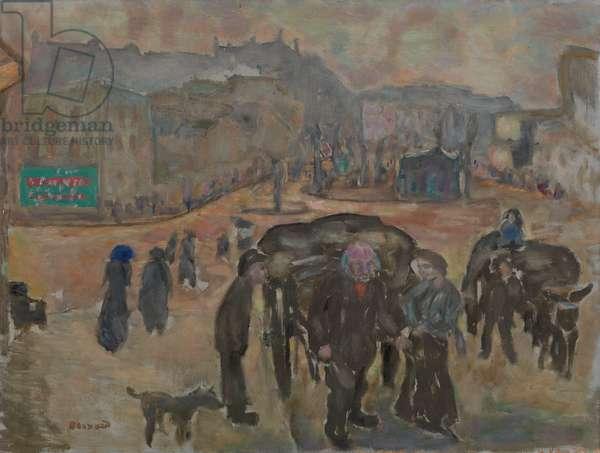 Street Scene (oil on canvas)
