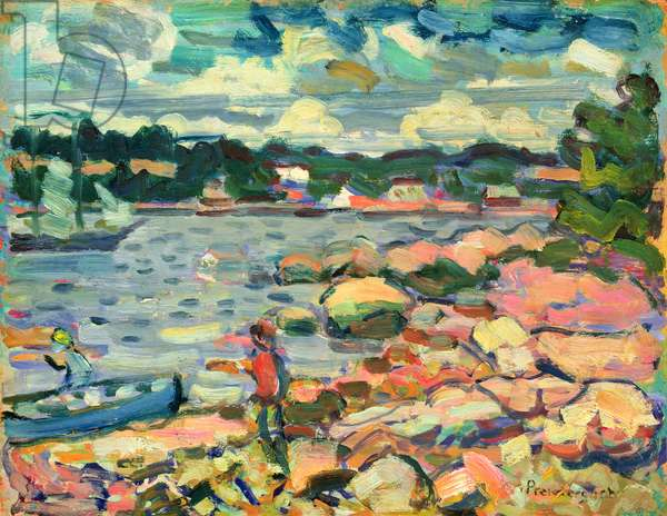 Symphony in Blue, Brooksville, Maine, 1907-10 (oil on panel)