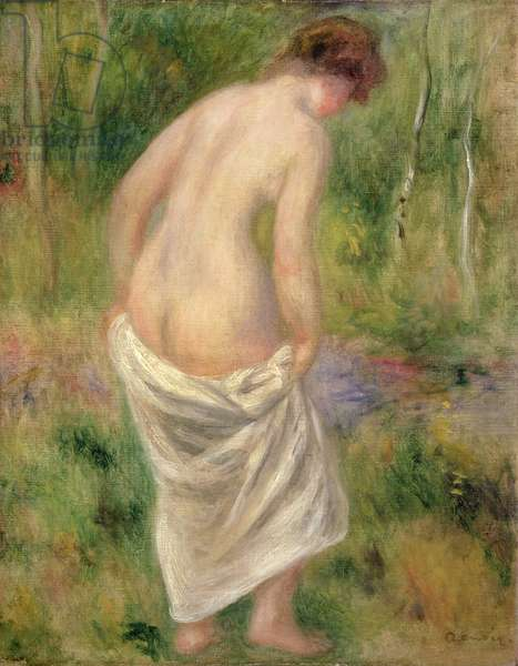Standing Nude in a Landscape, 1914 (oil on canvas)