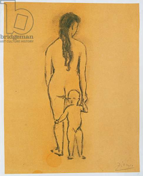 Nude Woman and Child (pencil on paper)