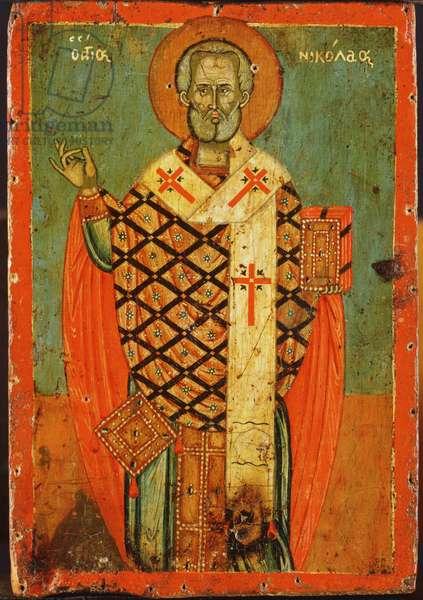 Saint Nicholas (oil on panel)