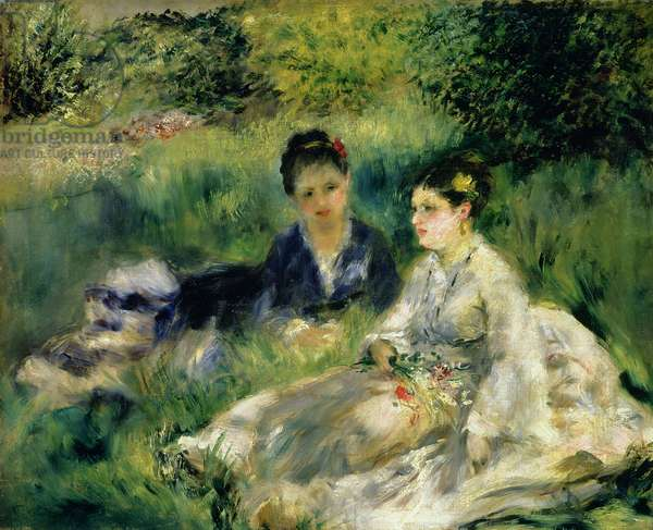 Two Women in the Park, 1875 (oil on canvas)